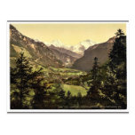 Jungfrau, Monch and Eiger Mountains, Bernese Oberl Postcard