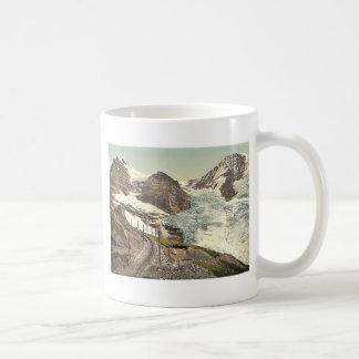 Jungfrau, railroad, Eiger and Monch, with Eiger Gl Classic White Coffee Mug