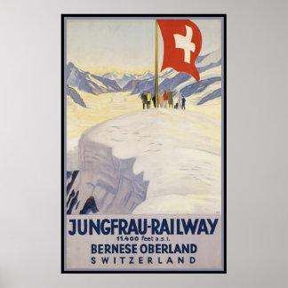 Jungfrau-Railway Bernese oberland Poster