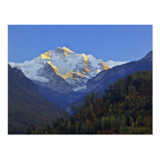 Jungfrau range from Interlaken Postcard