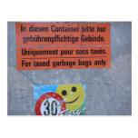 Jungfrau region, Taxed garbage bags Post Card