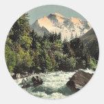 Jungfrau y Zweilutschine, Bernese Oberland, Swit Etiqueta Redonda