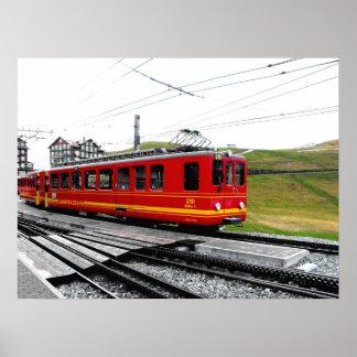 Jungfraubahn train in Switzerland Poster