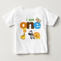 Jungle 1st Birthday Tshirt Toddler Baby Kid