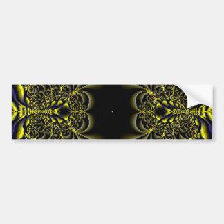 Jungle 5 Fractal Gold Blue Print Bumper Sticker