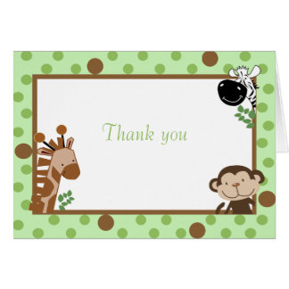 Jungle Adventure Any Occasion Folded Note Card