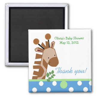Jungle Adventure Giraffe (Blue) Favor Magnet