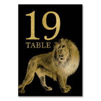 Jungle African Animal Lion Table Number Card 19
