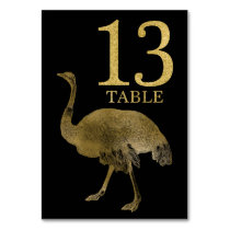 Jungle African Animal Ostrich Table Number Card 13