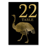 Jungle African Animal Ostrich Table Number Card 22