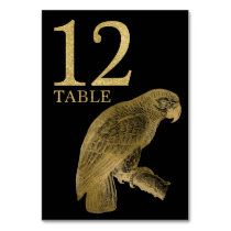 Jungle African Animal Parrot Table Number Card 12