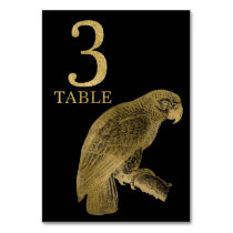 Jungle African Animal Parrot Table Number Card 3