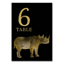 Jungle African Animal Rhino Table Number Card 6