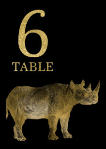 6ea5c9af5bd Jungle African Animal Rhino Table Number Card 6. Rhino Party Supplies ...