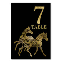 Jungle African Animal Zebra Table Number Card 7