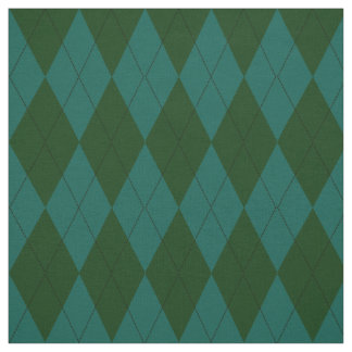Jungle and Jade Green Argyle Pattern Fabric
