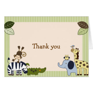 Jungle Animal Adventure Thank You Note Cards