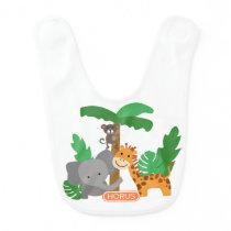 Jungle Animal Baby Bibs