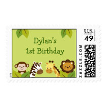 Jungle Animal Birthday Postage Stamps