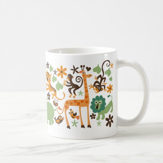 jungle animal coffee mug