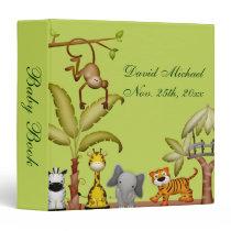 Jungle Animal Safari Celebration Baby Shower Binder