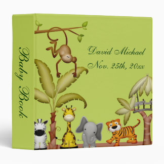 Jungle Animal Safari Celebration Baby Shower Binder