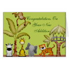 Jungle Animal Safari Celebration Baby Shower Card