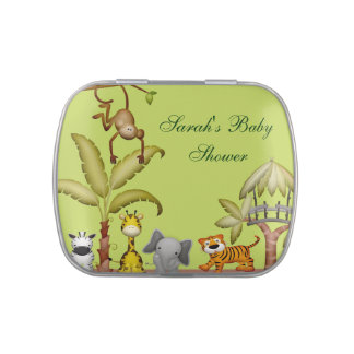 Jungle Animal Safari Celebration Baby Shower Jelly Belly Candy Tin