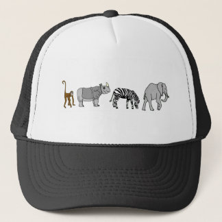 Jungle Animal Trucker Hat