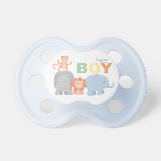 jungle animals baby boy custom baby pacifier