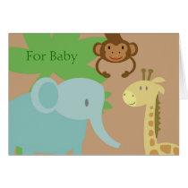 Jungle Animals baby gift card