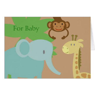 Jungle Animals baby gift card