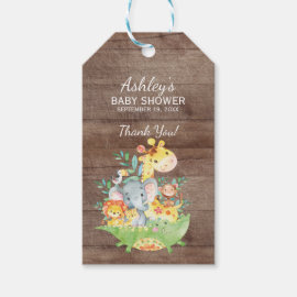 Jungle Animals Baby Shower Favor Gift Tag