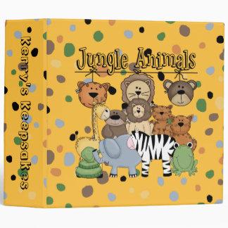 Jungle Animals Binder