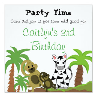 Jungle Animals Birthday Invitation