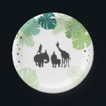 "Jungle animals birthday Paper Plates Safari Zoo<br><div class=""desc"">♥ A perfect addition to your little one&#39;s birthday party! Jungle safari zoo party animals theme.</div>"