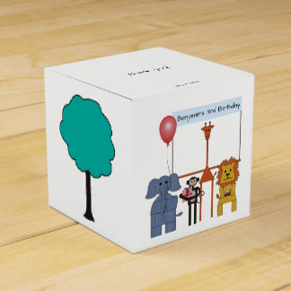 Jungle Animals Birthday Party Favor Box