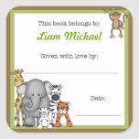 """Jungle Animals Book Plate Green Boy BOOKPLATE<br><div class=""""desc"""">Our cute jungle animals are available on many items.  Please visit our JUNGLE ANIMAL section for coordinating items.  Contact us anytime with questions.</div>"""
