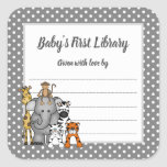 """Jungle Animals Book Plate Neutral gender BOOKPLATE<br><div class=""""desc"""">Bookplate stickers can be used for:  Baby Showers,  baby gifts,  new grandparent gifts (to encourage gift books),  new parents,  birthday party ideas,  etc.  Please contact the designer for special requests.</div>"""