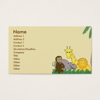 Jungle Animals Business Card