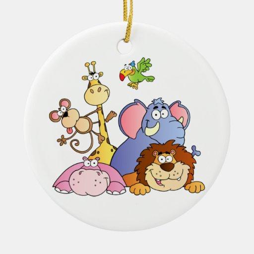 Jungle Animals Christmas Ornaments