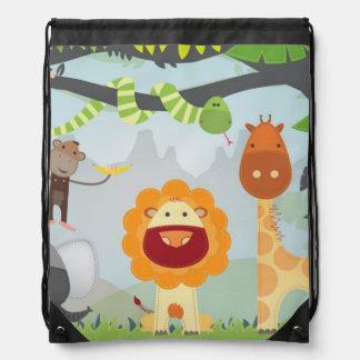 Jungle Animals Drawstring Bags