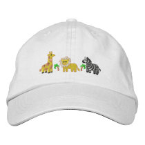 Jungle Animals Embroidered Baseball Hat