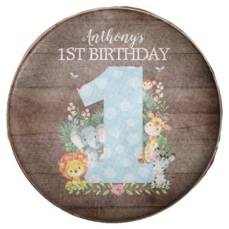 Jungle Animals FIRST BIRTHDAY Favor Dipped Oreo