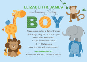 Monkey Baby Shower Invitations | Zazzle