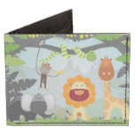 Jungle Animals Fun Tyvek® Billfold Wallet