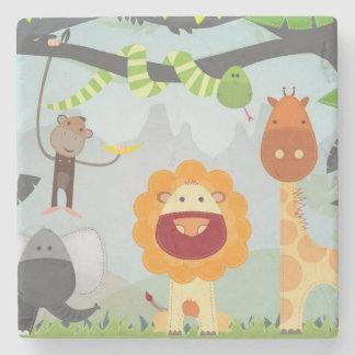 Jungle Animals Stone Beverage Coaster