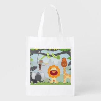 Jungle Animals Grocery Bag