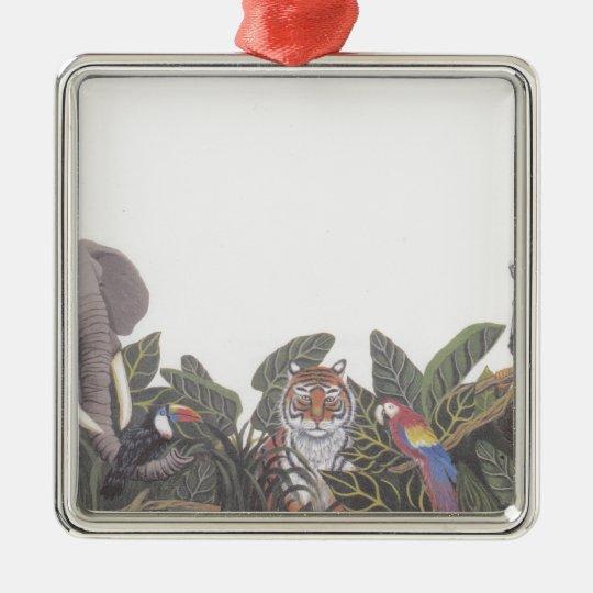 Jungle Animals.jpeg Metal Ornament