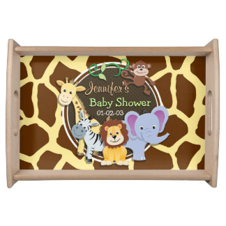 Baby shower decorations serving trays food trays zazzle for Baby shower tray decoration